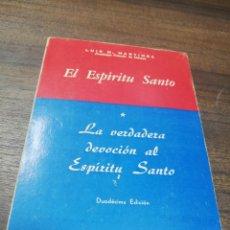 Libros de segunda mano: EL ESPIRITU SANTO. LUIS M. MARTINEZ. DUODECIMA EDICION. EDITORIAL LA CRUZ. 1974. MEXICO.. Lote 195262491