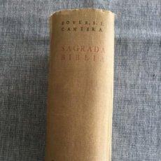 Libros de segunda mano: SAGRADA BIBLIA. VERSIÓN CRÍTICA SOBRE LOS TEXTOS HEBREO Y GRIEGO. JOSÉ Mª BOVER - FRANCISCO CANTERA.. Lote 195295655