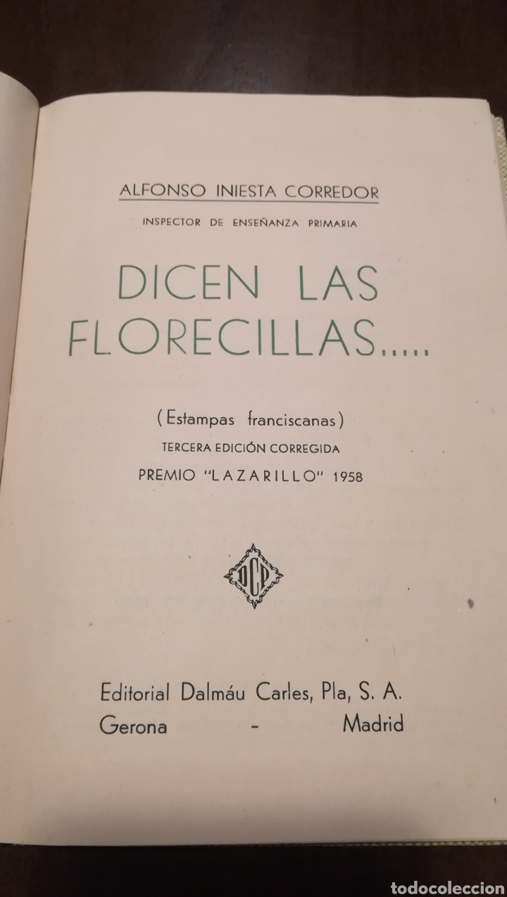 Libros de segunda mano: Dicen las florecillas (Estampas Franciscanas). Libro de 1959. - Foto 2 - 195332765