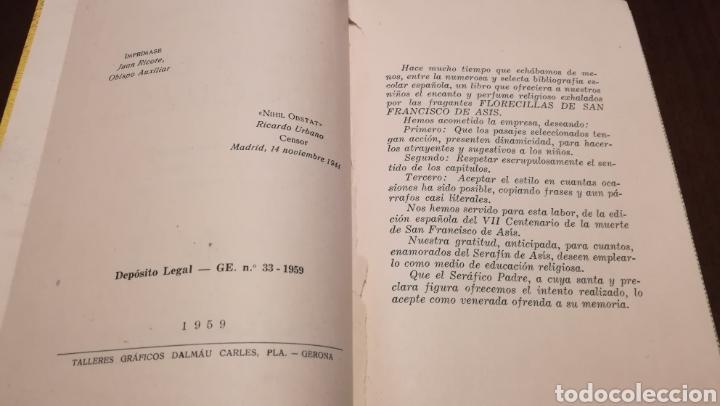 Libros de segunda mano: Dicen las florecillas (Estampas Franciscanas). Libro de 1959. - Foto 3 - 195332765