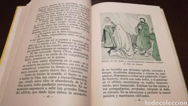 Libros de segunda mano: Dicen las florecillas (Estampas Franciscanas). Libro de 1959. - Foto 5 - 195332765