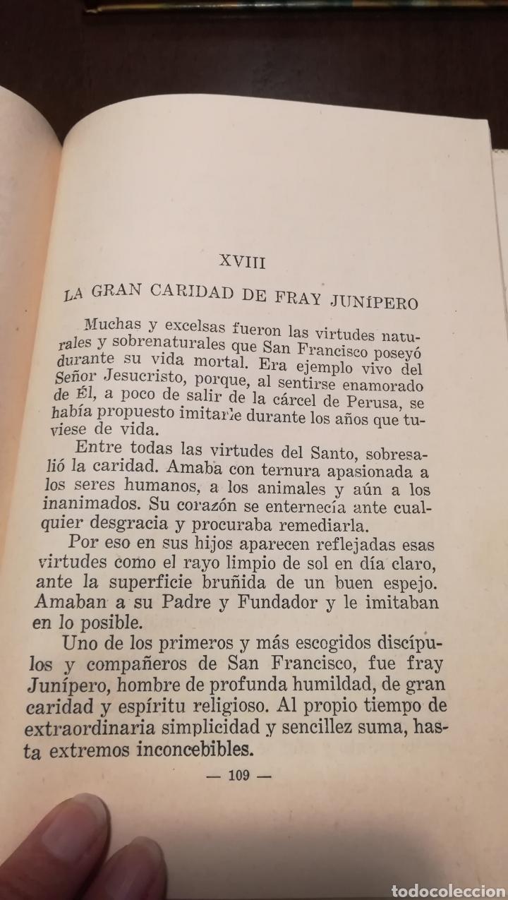 Libros de segunda mano: Dicen las florecillas (Estampas Franciscanas). Libro de 1959. - Foto 6 - 195332765