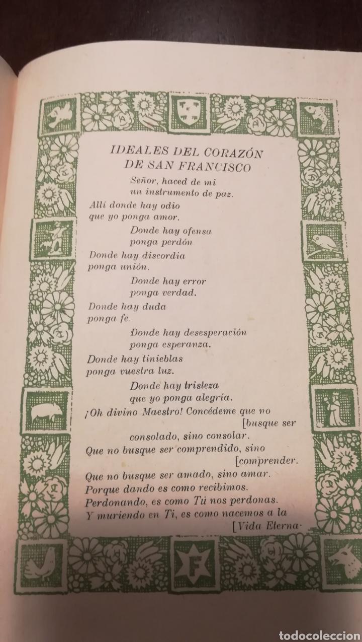 Libros de segunda mano: Dicen las florecillas (Estampas Franciscanas). Libro de 1959. - Foto 7 - 195332765