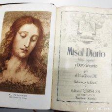 Libros de segunda mano: MISAL DIARIO LATINO ESPAÑOL 1958. Lote 195354510