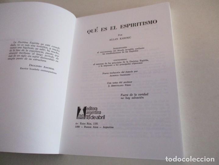 Libros de segunda mano: Qué es el Espiritismo . ALLAN KARDEC. - Foto 2 - 195368743