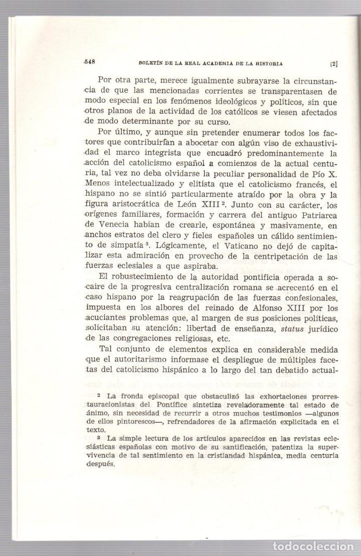 Libros de segunda mano: APROXIMACION AL CATOLICISMO PENINSULAR E IBEROAMERICANO EN EL PONTIFICADO DE PIO X. 1972 - Foto 2 - 195370290