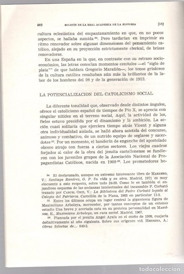Libros de segunda mano: APROXIMACION AL CATOLICISMO PENINSULAR E IBEROAMERICANO EN EL PONTIFICADO DE PIO X. 1972 - Foto 3 - 195370290
