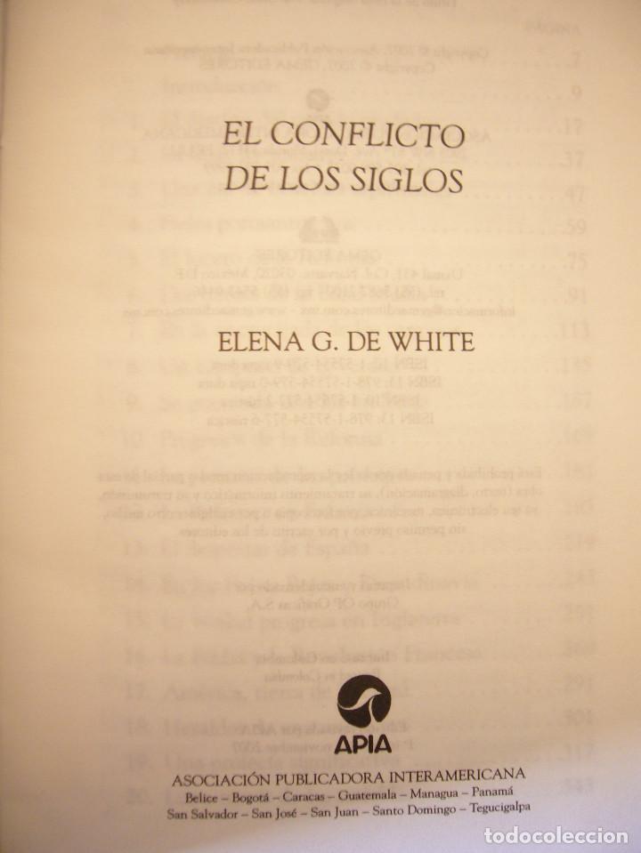 Libros de segunda mano: ELENA G. DE WHITE: EL CONFLICTO DE LOS SIGLOS (APIA, 2007) MUY BUEN ESTADO. TAPA DURA. RARO. - Foto 4 - 195372215