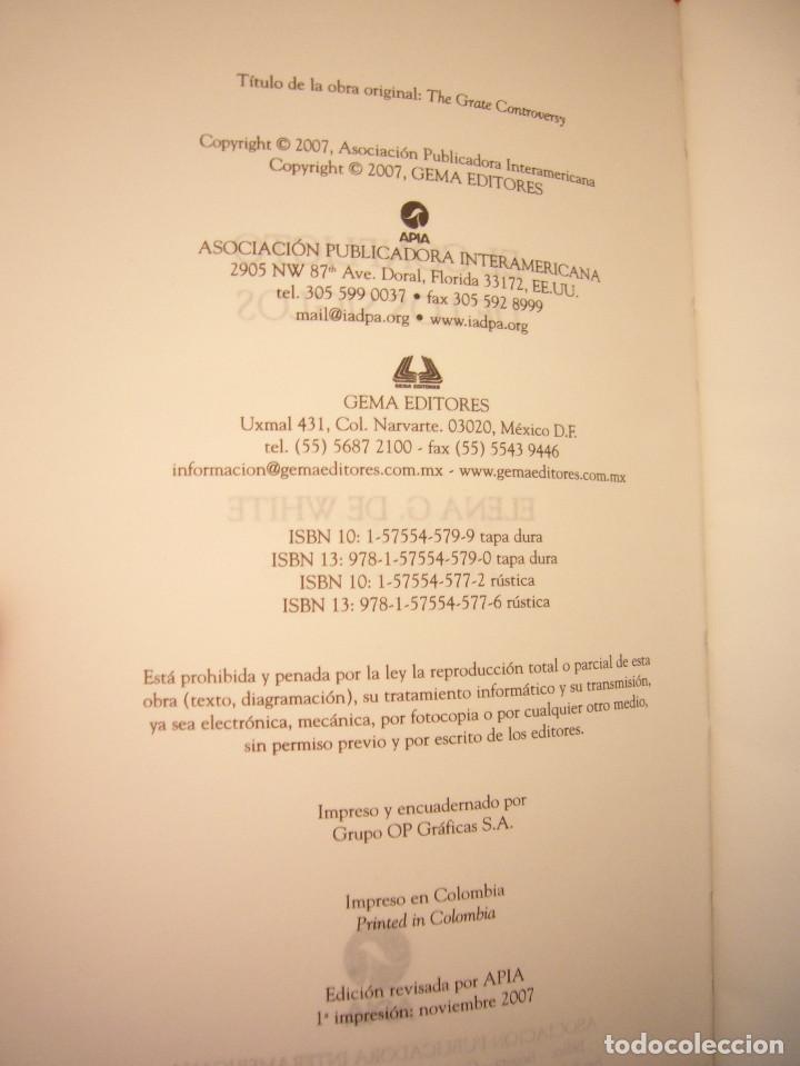 Libros de segunda mano: ELENA G. DE WHITE: EL CONFLICTO DE LOS SIGLOS (APIA, 2007) MUY BUEN ESTADO. TAPA DURA. RARO. - Foto 5 - 195372215