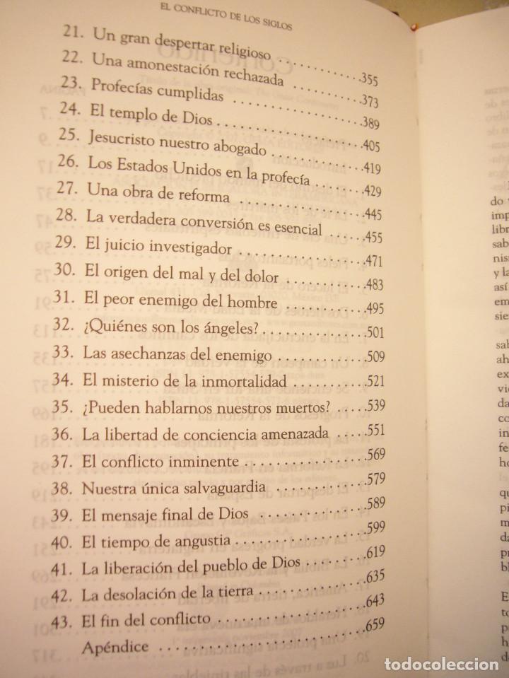 Libros de segunda mano: ELENA G. DE WHITE: EL CONFLICTO DE LOS SIGLOS (APIA, 2007) MUY BUEN ESTADO. TAPA DURA. RARO. - Foto 7 - 195372215