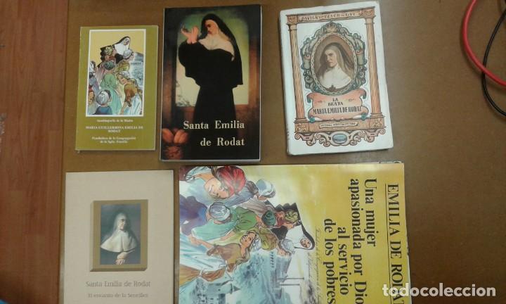 LOTE SOBRE SANTA EMILIA DE RODAT (6 UNIDADES EN TOTAL VER DESCRIPCIÓN) (Libros de Segunda Mano - Religión)