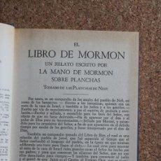 Libros de segunda mano: EL LIBRO DEL MORMÓN. UN RELATO ESCRITO POR LA MANO DEL MORMÓN SOBRE PLANCHAS.. Lote 195386260
