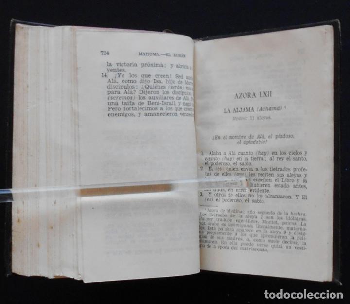 Libros de segunda mano: PCBROS - KORAN - VERSIÓN LITERAL E INTEGRAL - AGUILAR - COL. CRISOL Nº 310 - ED. - 2ª.- 1954 - Foto 12 - 195391060
