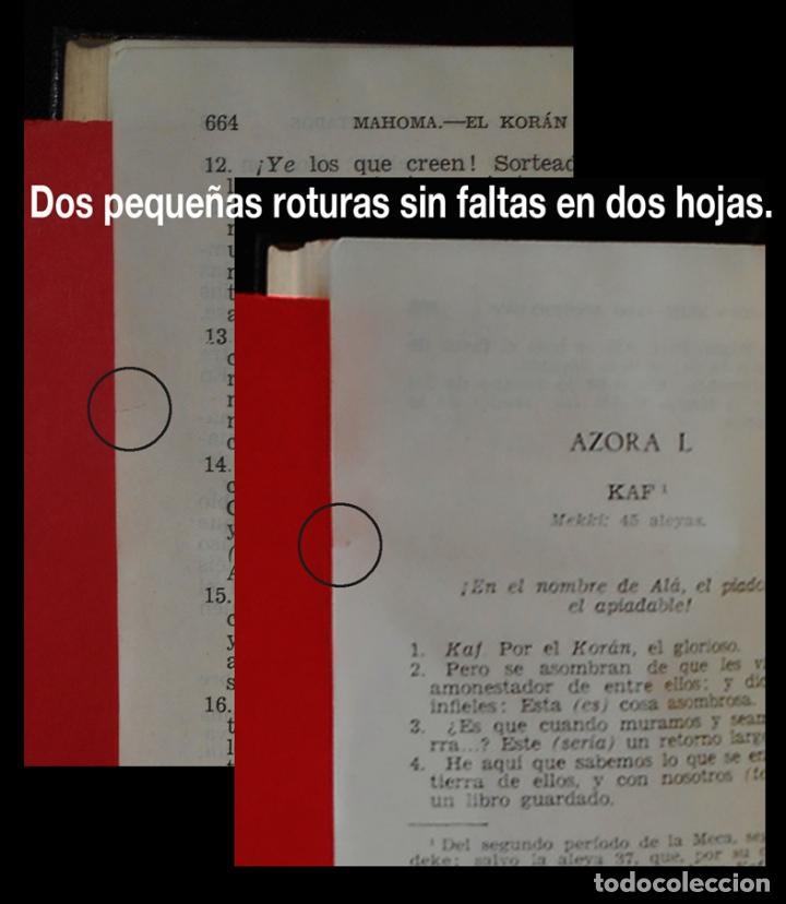 Libros de segunda mano: PCBROS - KORAN - VERSIÓN LITERAL E INTEGRAL - AGUILAR - COL. CRISOL Nº 310 - ED. - 2ª.- 1954 - Foto 16 - 195391060