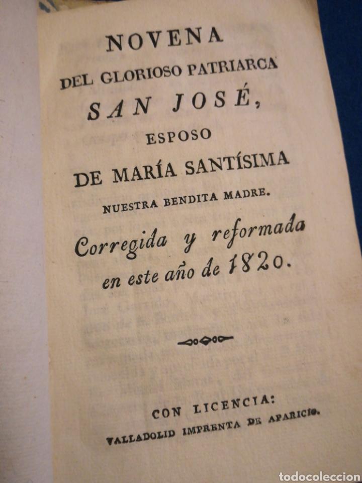 NOVENA DEL GLORIOSO SÁN JOSÉ ESPOSO DE MARIA SANTÍSIMA 1820 (Libros de Segunda Mano - Religión)
