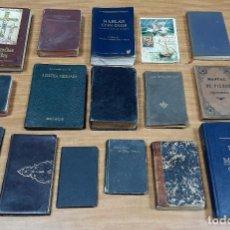 Libros de segunda mano: LOTE 16 LIBROS ANTIGUOS MANUALES RELIGIÓN RELIGIOSOS MISALES BIBLIAS TESTAMENTOS O SIMILARES. Lote 195506713