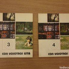 Libros de segunda mano: 2 LIBRO RELIGIÓN CON VOSOTROS ESTÁ. 1979. Lote 195522638