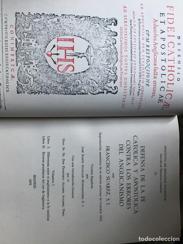 Libros de segunda mano: Defensa de la fe católica y apostólica contra los errores del anglicanismo por Francisco Suárez - Foto 3 - 196634533