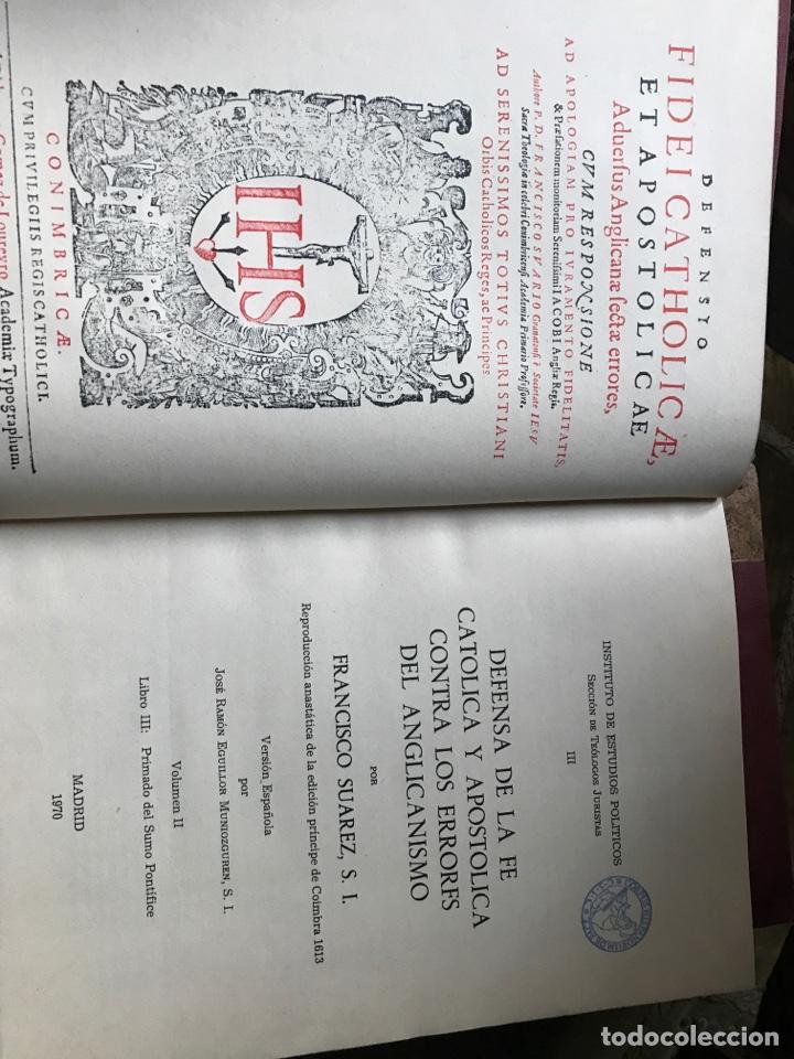 Libros de segunda mano: Defensa de la fe católica y apostólica contra los errores del anglicanismo por Francisco Suárez - Foto 4 - 196634533