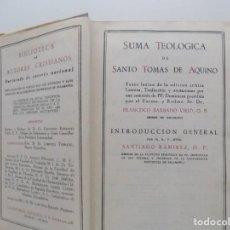 Libros de segunda mano: LIBRERIA GHOTICA.SANTO TOMÁS DE AQUINO.SUMA TEOLOGICA.TOMO XVI.TRATADO DE LOS NOVÍSIMOS.ÍNDICE.1960 . Lote 196780931