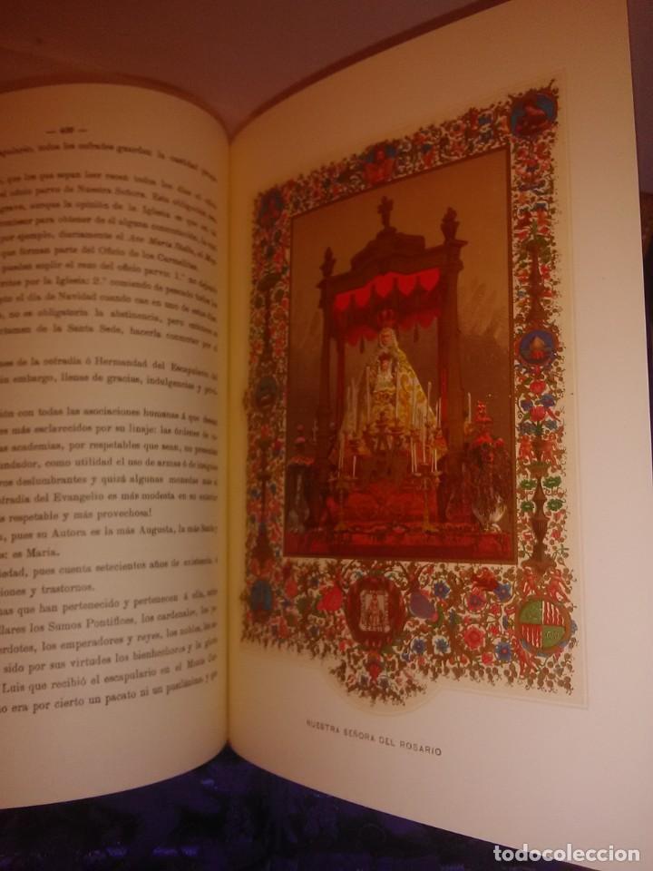 Libros de segunda mano: Historia de la Santísima Virgen María. J. Pérez Sanjulian. 3 tomos. 1988. Facsímil de ed. de 1902-3. - Foto 5 - 197211010