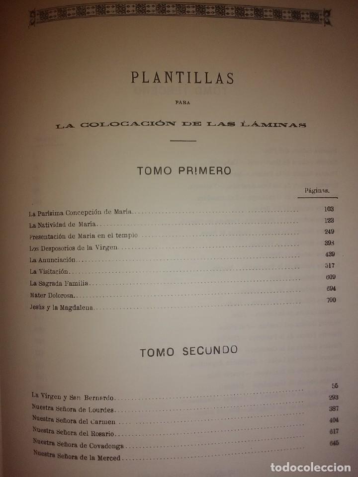 Libros de segunda mano: Historia de la Santísima Virgen María. J. Pérez Sanjulian. 3 tomos. 1988. Facsímil de ed. de 1902-3. - Foto 9 - 197211010