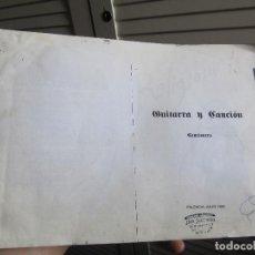 Libros de segunda mano: GUITARRA Y CANCION CANCIONERO 1993 PALENCIA 227 PP AUTOEDITADO. Lote 197443710