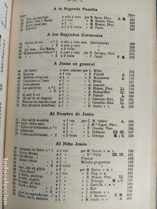 Libros de segunda mano: REPERTORIO DE CANTICOS SAGRADOS - JOSÉ GONZALEZ ALONSO - EDITORIAL COCULSA 1954 7ª EDICIÓN - Foto 8 - 197833812