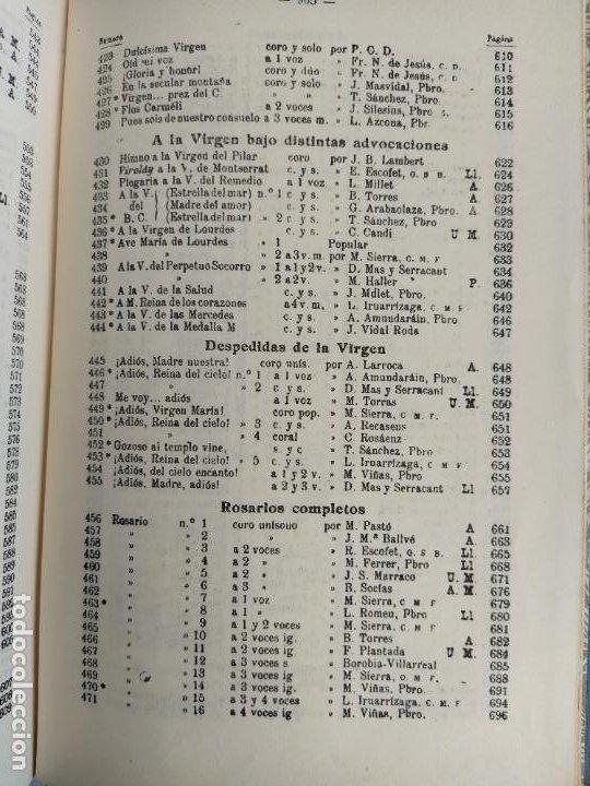 Libros de segunda mano: REPERTORIO DE CANTICOS SAGRADOS - JOSÉ GONZALEZ ALONSO - EDITORIAL COCULSA 1954 7ª EDICIÓN - Foto 16 - 197833812