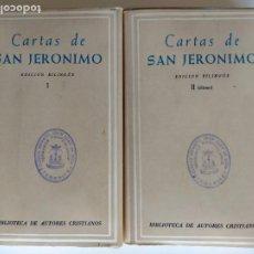 Livros em segunda mão: CARTAS DE SAN JERÓNIMO I-II COMPLETA - 219,220 BIBLIOTECA DE AUTORES CRISTIANOS 1ª ED. 1962. Lote 199236156