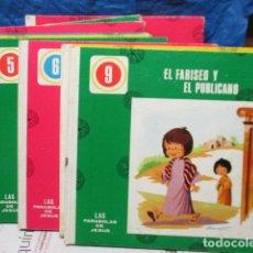 Libros de segunda mano: LAS PARABOLAS DE JESUS (AÑO 1967) LOTE 9 LIBROS CUENTOS - RELIGION INFANTIL - ED. VALLES. Lote 199788807