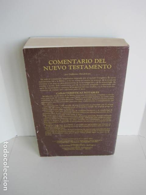Libros de segunda mano: COMENTARIO DEL NUEVO TESTAMENTO. GUILLERMO HENDRIKSEN. SAN JUAN, MATEO, GALATAS, EFESIOS, FILIPENSES - Foto 5 - 200036688
