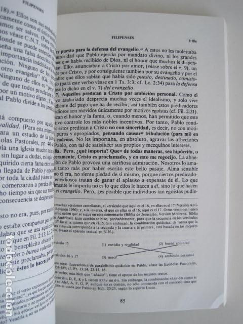 Libros de segunda mano: COMENTARIO DEL NUEVO TESTAMENTO. GUILLERMO HENDRIKSEN. SAN JUAN, MATEO, GALATAS, EFESIOS, FILIPENSES - Foto 38 - 200036688