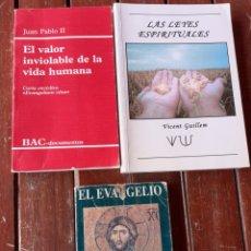 Libros de segunda mano: LOTE DE 3 LIBROS DE TEMÁTICA DE RELIGIÓN. Lote 200142695