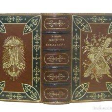 Libros de segunda mano: 1888 - ENCUADERNACIÓN DE LUJO - PRECIOSO DEVOCIONARIO DEL SIGLO XIX ILUSTRADO CON GRABADOS - PIEL. Lote 200294100