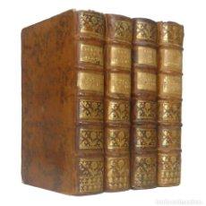 Libros de segunda mano: 1758 - JEAN-BAPTISTE MASSILLON: SERMONES DE CUARESMA - COMPLETO EN 4 TOMOS - SIGLO XVIII - PIEL. Lote 221651965