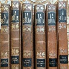 Libros de segunda mano: LA BIBLIA (6 TOMOS). Lote 215409702