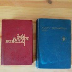 Libros de segunda mano: LOTE DE LIBROS, LA SANTA BIBLIA Y NUEVO TESTAMENTO, SALMOS.. Lote 202876150