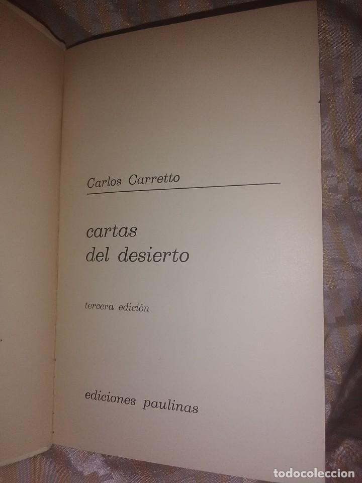 Libros de segunda mano: Cartas del Desierto. Carlos Carretto. Paulinas. 3 ed. - Foto 2 - 204409320