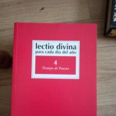 Libros de segunda mano: LECTIO DIVINA 4 TIEMPO DE PASCUA. Lote 205175301
