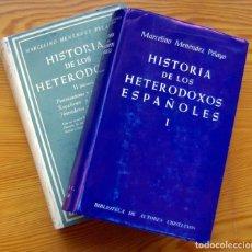 Libros de segunda mano: HISTORIA DE LOS HETERODOXOS-MENÉNDEZ PELAYO,MARCELINO-BIBLIOTECA DE AUTORES CRISTIANOS BAC -2 TOMOS. Lote 205604047
