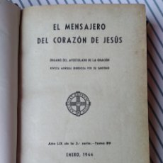 Libros de segunda mano: EL MENSAJERO DEL CORAZÓN DE JESÚS 1944. 7 NÚMEROS ENE-AGO Nº682-688. Lote 206522285