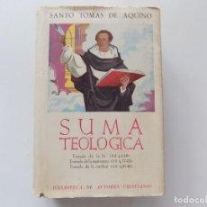 Libros de segunda mano: LIBRERIA GHOTICA. SANTO TOMAS DE AQUINO. SUMA TEOLOGICA. TRATADOS DE LA FE,ESPERANZA Y CARIDAD.1959. Lote 206547710