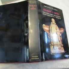 Livres d'occasion: IMAGEN Y MITO. ESTUDIOS SOBRE RELIGIONES MEDITERRÁNEAS E IBÉRICAS - JOSÉ MARÍA BLÁZQUEZ 1977 + INFO. Lote 206811016