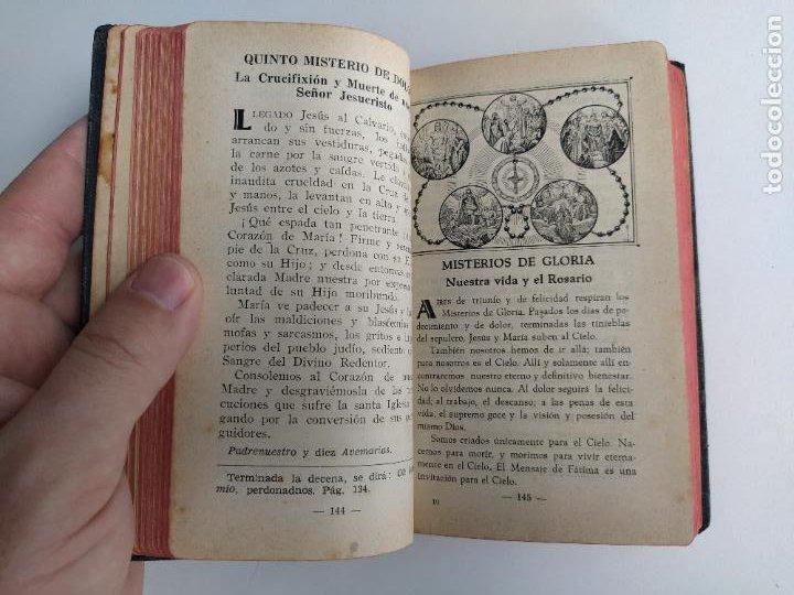 Libros de segunda mano: AURAS DE FÁTIMA DEVOCIONARIO COMPLETO DE LA VIRGEN APARECIDA - LUIS RIBERA - COCULSA 1949 - Foto 5 - 207850012