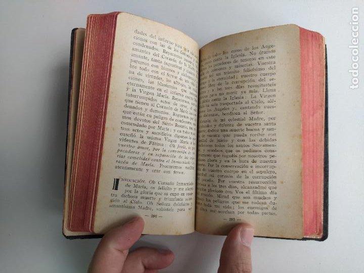 Libros de segunda mano: AURAS DE FÁTIMA DEVOCIONARIO COMPLETO DE LA VIRGEN APARECIDA - LUIS RIBERA - COCULSA 1949 - Foto 6 - 207850012
