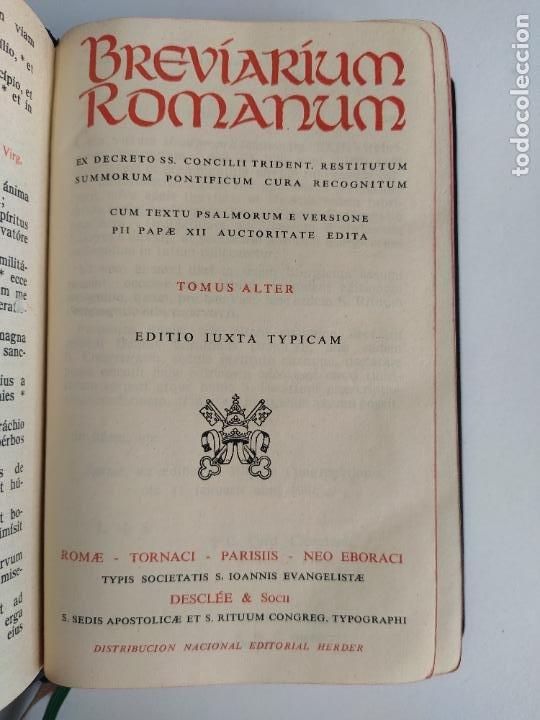 Libros de segunda mano: BREVIARIUM ROMANUM TOMUS ALTER - HERDER - Foto 6 - 207855278