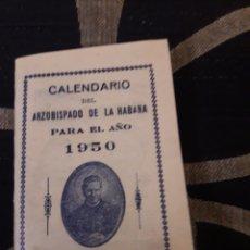 Libros de segunda mano: CALENDARIO DEL ARZOBISPADO DE LA HABANA DE 1950. Lote 207938862