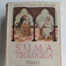 Livros em segunda mão: SUMA TEOLÓGICA TOMO I - SANTO TOMAS DE AQUINO - BIBLIOTECA DE AUTORES CRISTIANOS. Lote 208074423