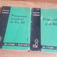 Livres d'occasion: CUADERNOS SACERDOTALES 1 Y 2. Lote 208140960